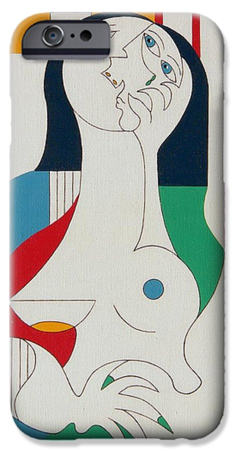 Women Fingers Nails Modern Humor IPhone 6 Case featuring the painting Thanks by Hildegarde Handsaeme