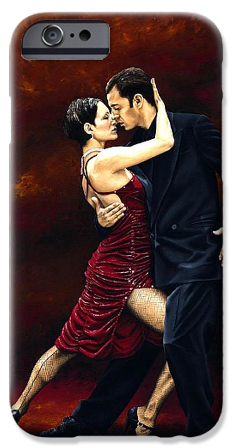 Tango IPhone 6 Case featuring the painting That Tango Moment by Richard Young