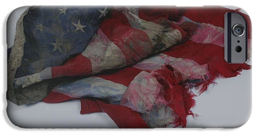 911 IPhone 6 Case featuring the photograph The 9 11 W T C Fallen Heros American Flag by Rob Hans