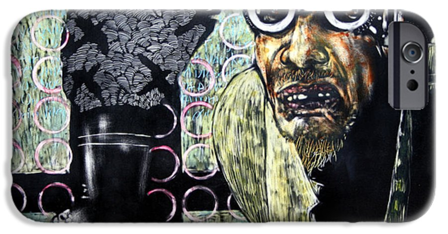 Scratchboard IPhone 6 Case featuring the mixed media The Alchemist by Chester Elmore