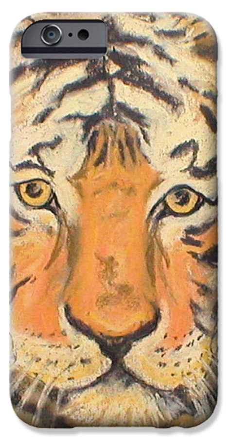 Pastel IPhone 6 Case featuring the drawing The Amber Stare by Cori Solomon