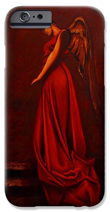 Giorgio IPhone 6 Case featuring the painting The Angel Of Love by Giorgio Tuscani