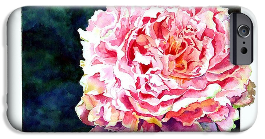 Peony IPhone 6 Case featuring the painting The Ant's Castle by Linda Marie Carroll