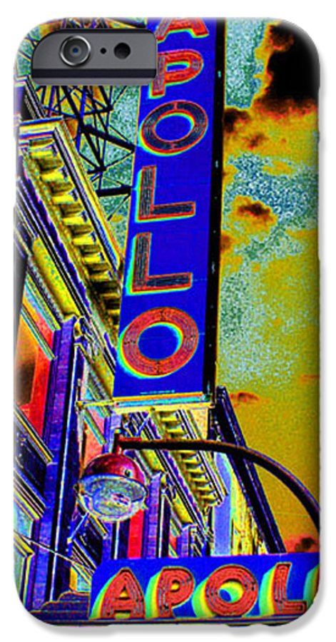 Harlem IPhone 6 Case featuring the photograph The Apollo by Steven Huszar