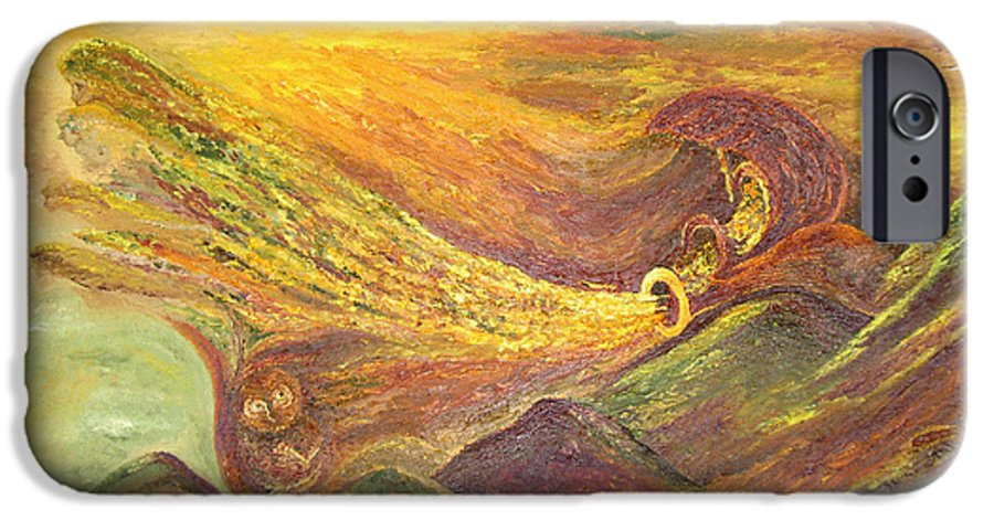 Autumn IPhone 6 Case featuring the painting The Autumn Music Wind by Karina Ishkhanova