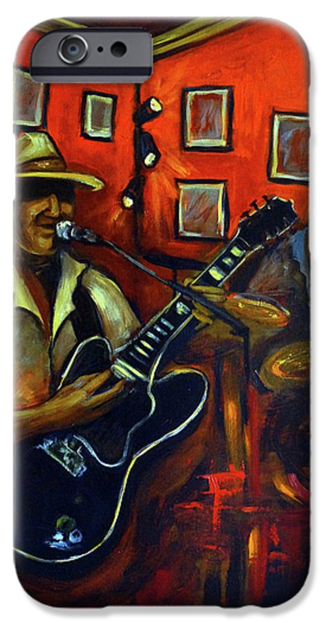 Blues IPhone 6 Case featuring the painting The Back Room by Valerie Vescovi