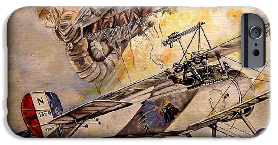 Military IPhone 6 Case featuring the painting The Balloon Buster by Marc Stewart