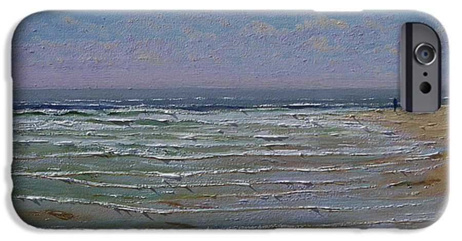 Seascape IPhone 6 Case featuring the painting The Beachcomber by Frank Wilson