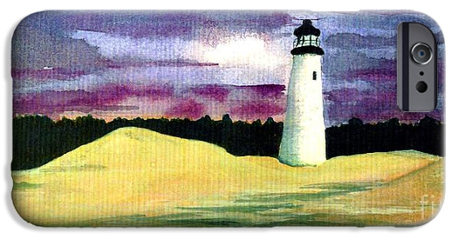 Fine Art IPhone 6 Case featuring the painting The Beacon by Patricia Griffin Brett
