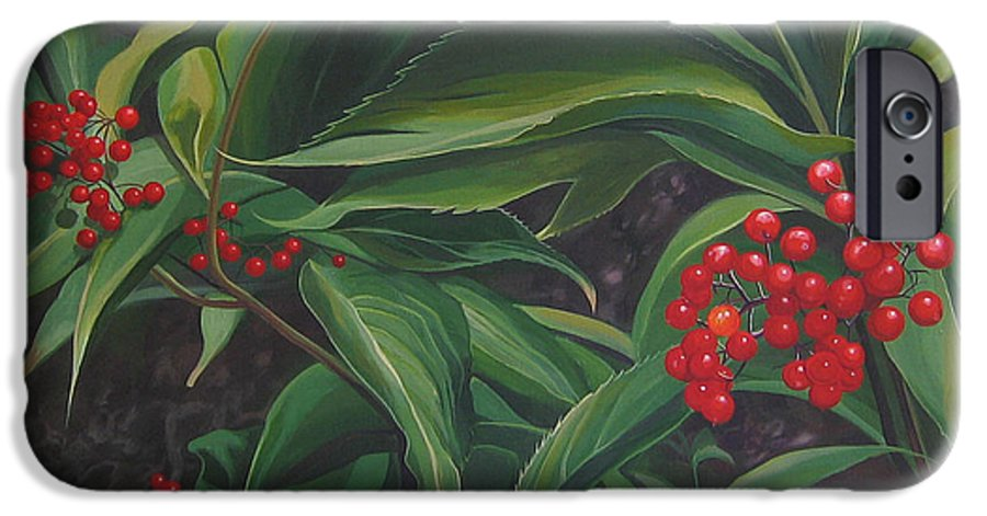 Berries IPhone 6 Case featuring the painting The Berries On Guanella Pass by Hunter Jay