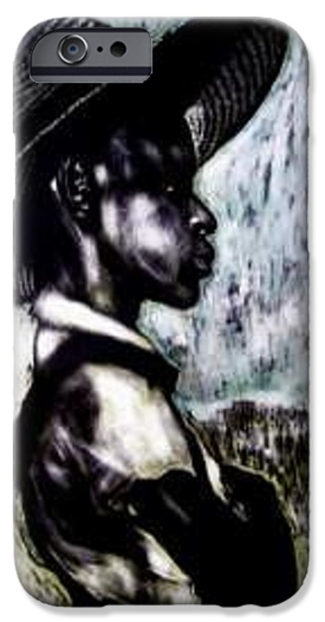 Portrait IPhone 6 Case featuring the mixed media The Berry Picker by Chester Elmore