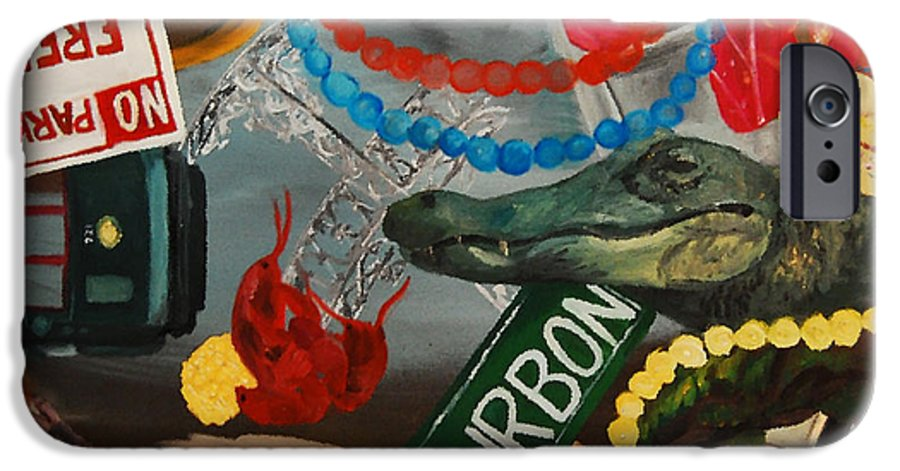 Louisiana IPhone 6 Case featuring the painting The Big Easy by Lauren Luna
