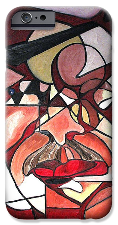 Abstract IPhone 6 Case featuring the painting The Brain Surgeon by Patricia Arroyo