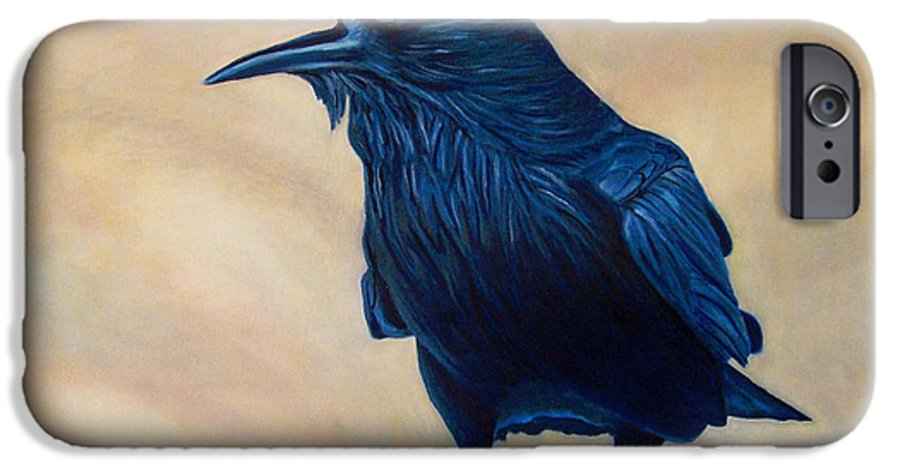 Raven IPhone 6 Case featuring the painting The Conversation by Brian Commerford