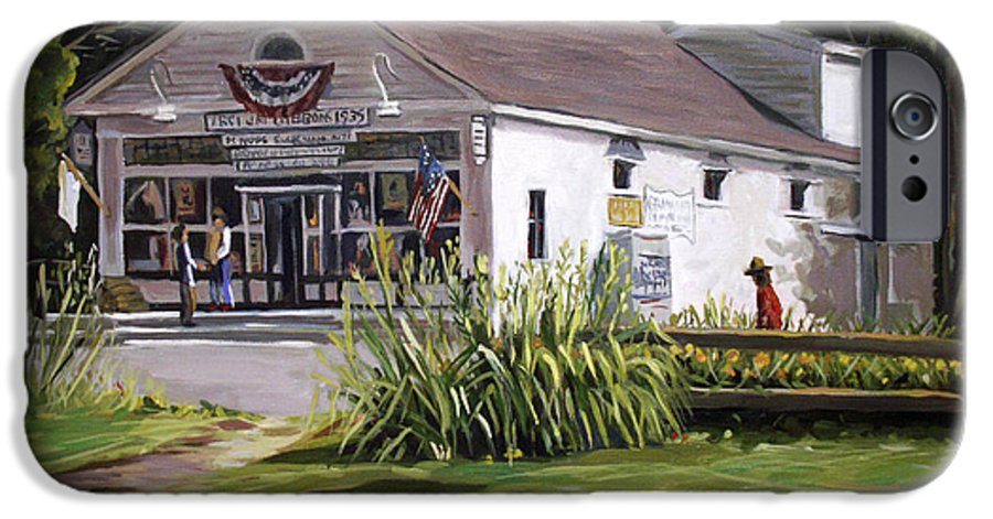 Buildings IPhone 6 Case featuring the painting The Country Store by Nancy Griswold