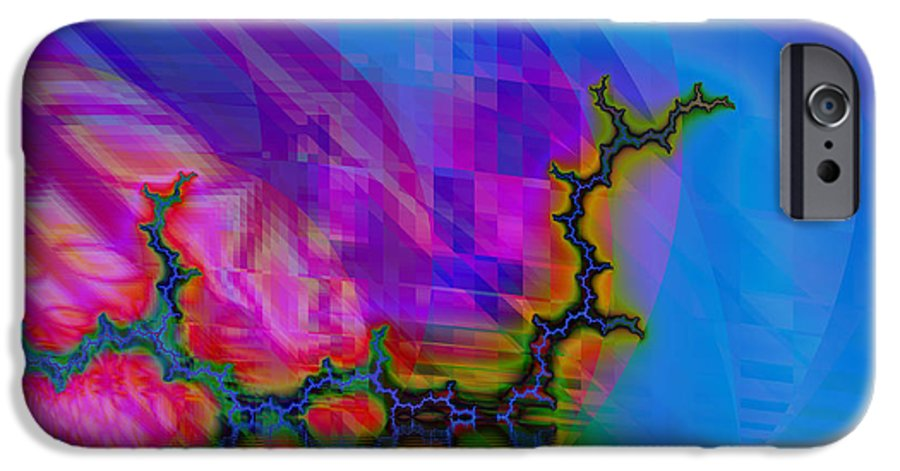 Fractal IPhone 6 Case featuring the digital art The Crawling Serpent by Frederic Durville