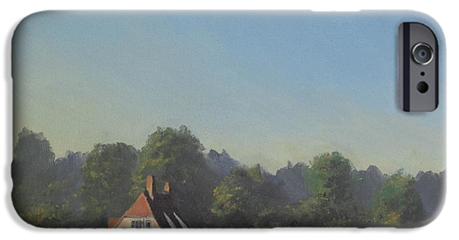 Landscape Trees IPhone 6 Case featuring the painting The Crooked Billet by Richard Picton