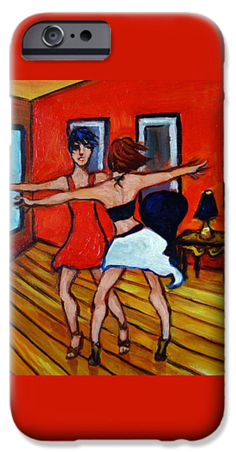 Dancers IPhone 6 Case featuring the painting The Dancers by Valerie Vescovi
