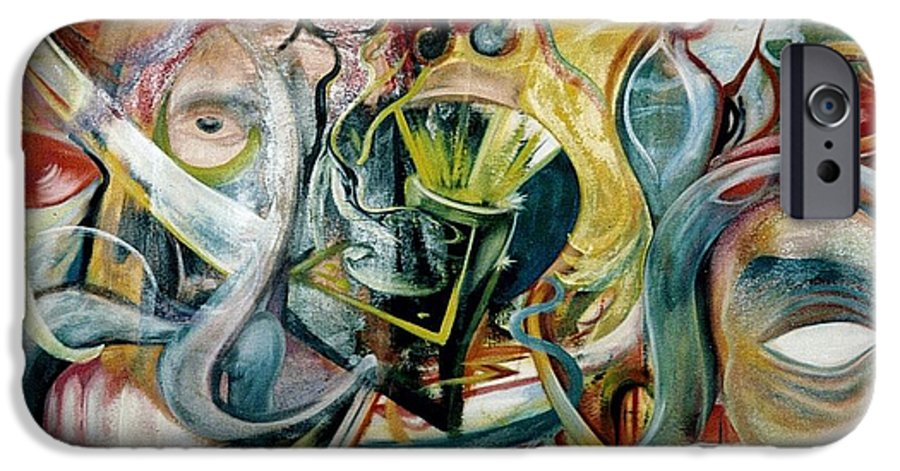 Jester IPhone 6 Case featuring the painting The Danger In Joy by Will Le Beouf