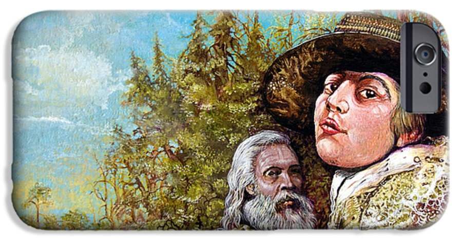 Surrealism IPhone 6 Case featuring the painting The Dauphin And Captain Nemo Discovering Bogomils Island by Otto Rapp