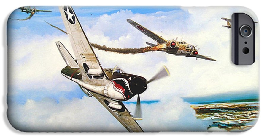 Military IPhone 6 Case featuring the painting The Day I Owned The Sky by Marc Stewart