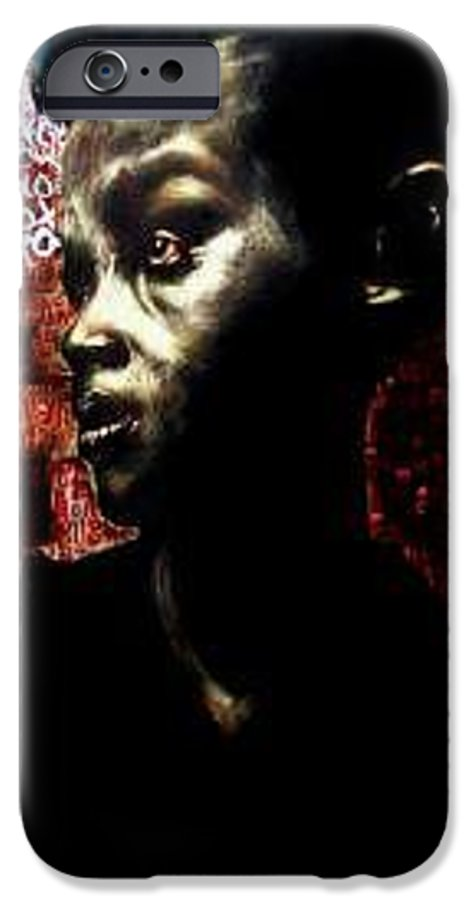 Portrait IPhone 6 Case featuring the mixed media The Day We First Met by Chester Elmore