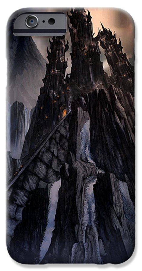 Architectural IPhone 6 Case featuring the mixed media The Dragon Gate by Curtiss Shaffer
