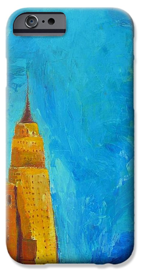Abstract Cityscape IPhone 6 Case featuring the painting The Empire State by Habib Ayat