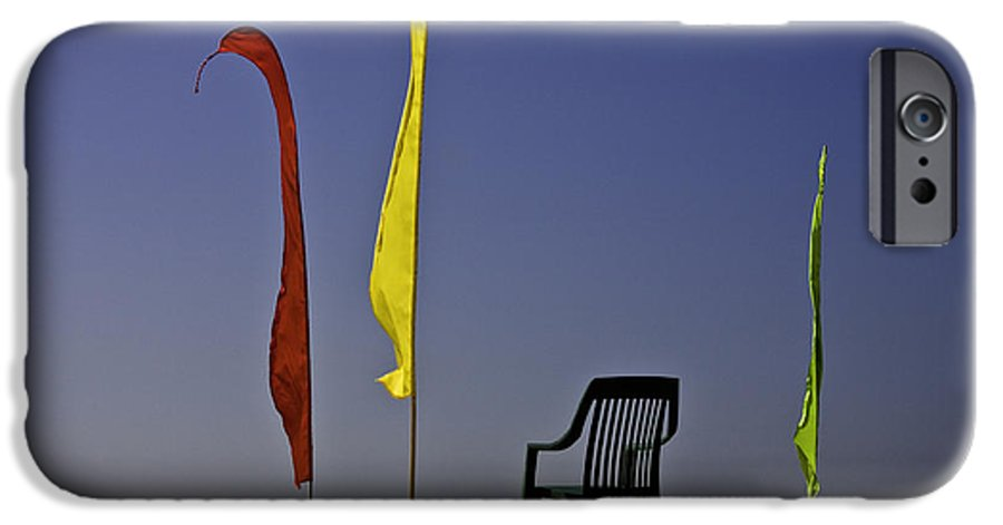 Beach IPhone 6 Case featuring the photograph The Empty Chair by Sheila Smart Fine Art Photography