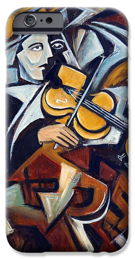 Musician IPhone 6 Case featuring the painting The Fiddler by Valerie Vescovi