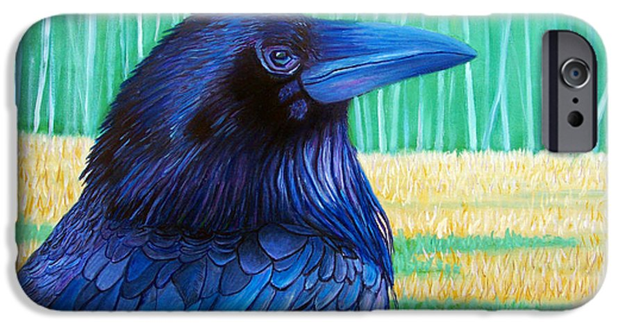 Raven IPhone 6 Case featuring the painting The Field Of Dreams by Brian Commerford
