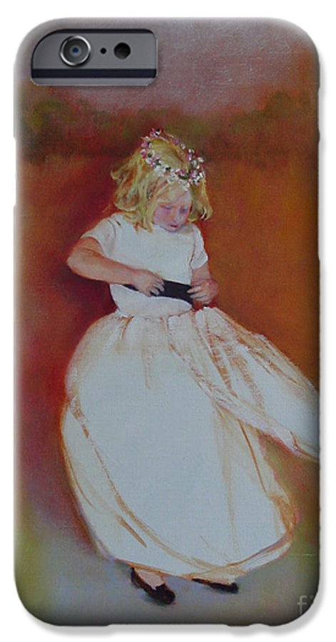 Contemporary Portrait IPhone 6 Case featuring the painting The Flower Girl Copyrighted by Kathleen Hoekstra