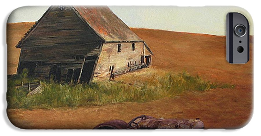 Oil Paintings IPhone 6 Case featuring the painting The Forgotten Farm by Chris Neil Smith