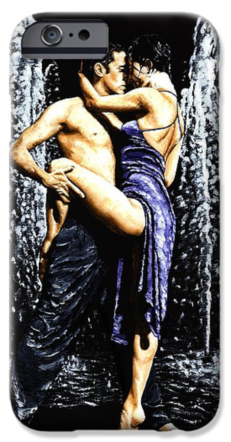 Tango IPhone 6 Case featuring the painting The Fountain Of Tango by Richard Young