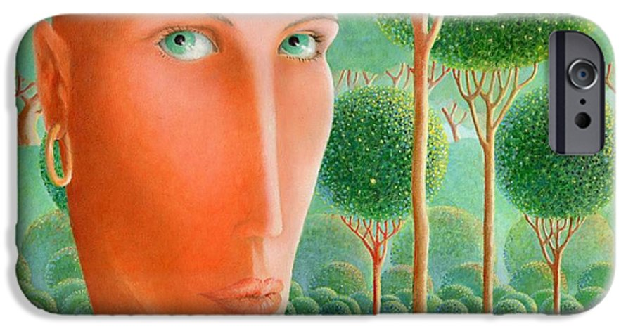 Giuseppe Mariotti IPhone 6 Case featuring the painting The Garden by Giuseppe Mariotti