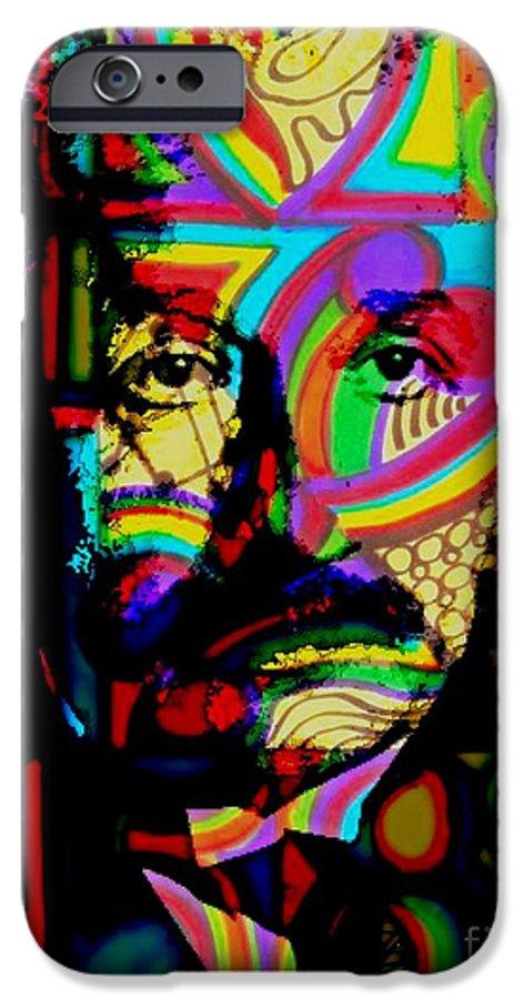 Albert Einstein iPhone 6 Case featuring the painting The Genius by Wbk