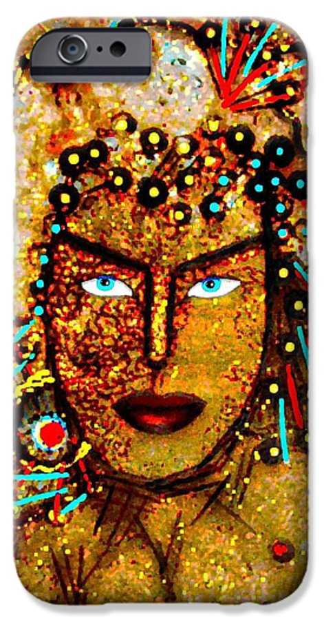 Goddess IPhone 6 Case featuring the painting The Golden Goddess by Natalie Holland