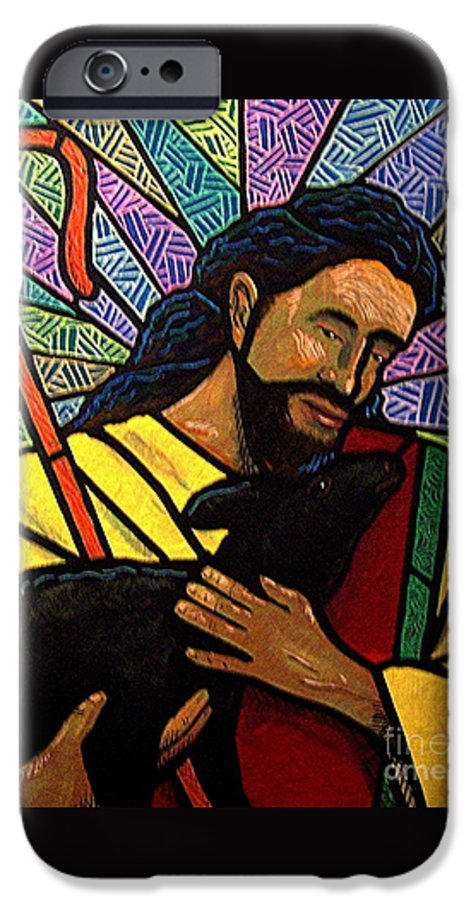 Jesus IPhone 6 Case featuring the painting The Good Shepherd - Practice Painting One by Jim Harris
