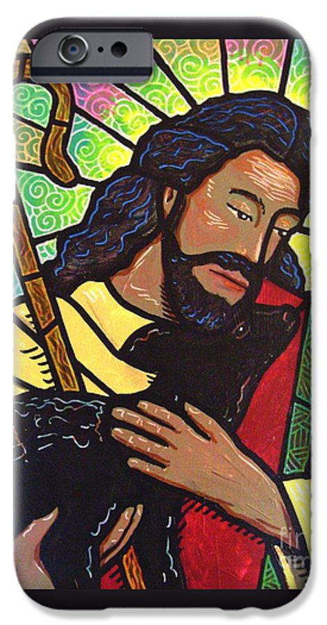 Jesus IPhone 6 Case featuring the painting The Good Shepherd - Practice Painting Two by Jim Harris