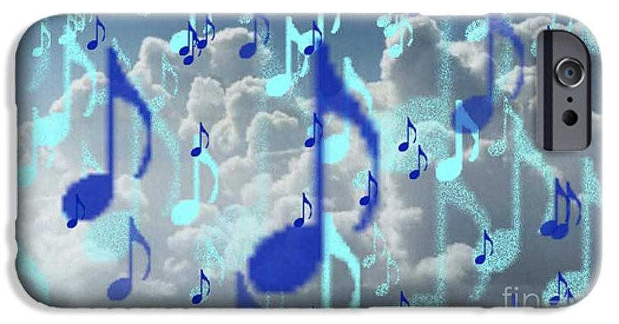 IPhone 6 Case featuring the digital art The Greater Clouds Of Witnesses We Love The Blues Too by Brenda L Spencer