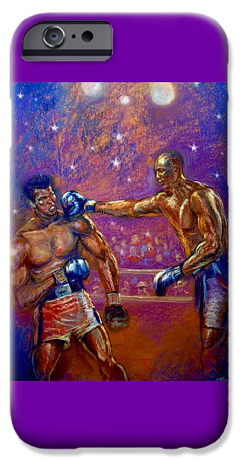 Boxing IPhone 6 Case featuring the pastel the Greatest Muhammed Ali vs Jack Johnson by Tommy Winn