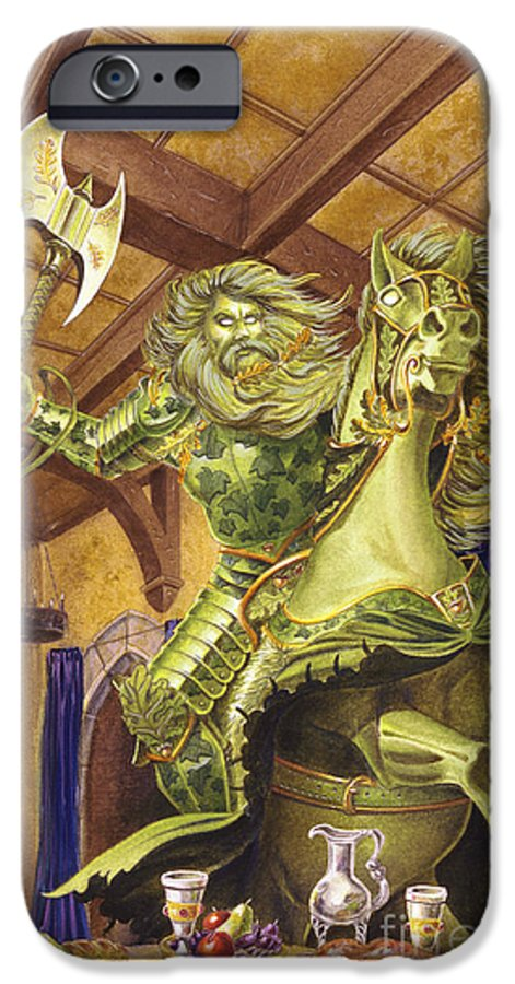 Fine Art IPhone 6 Case featuring the painting The Green Knight by Melissa A Benson