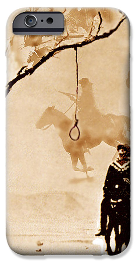 Clint Eastwood IPhone 6 Case featuring the digital art The Hangman's Tree by Seth Weaver