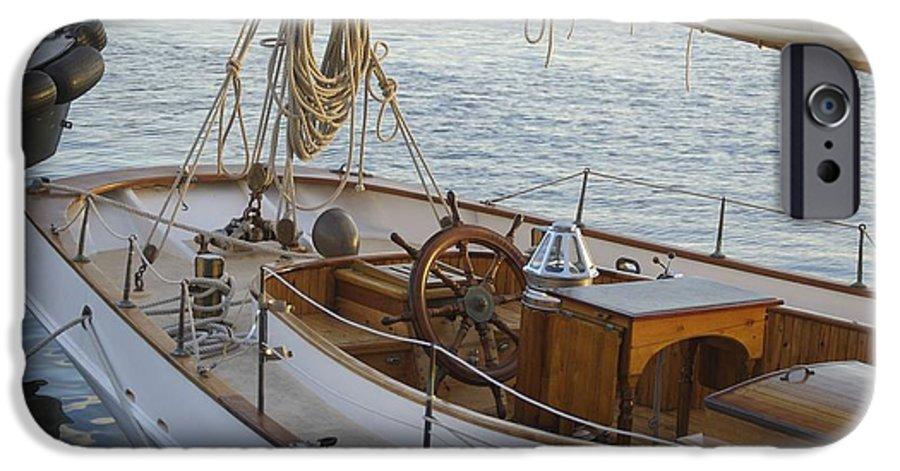 Sail IPhone 6 Case featuring the photograph The Helm by Faith Harron Boudreau
