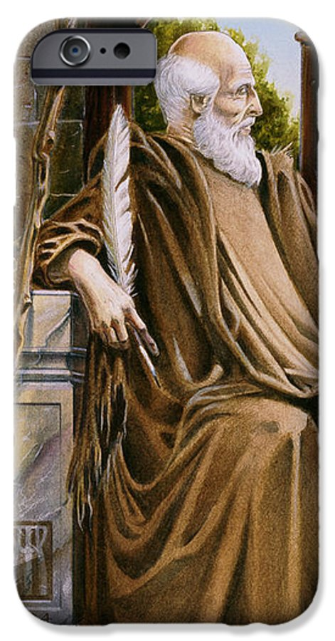Wise Man IPhone 6 Case featuring the painting The Hermit Nascien by Melissa A Benson