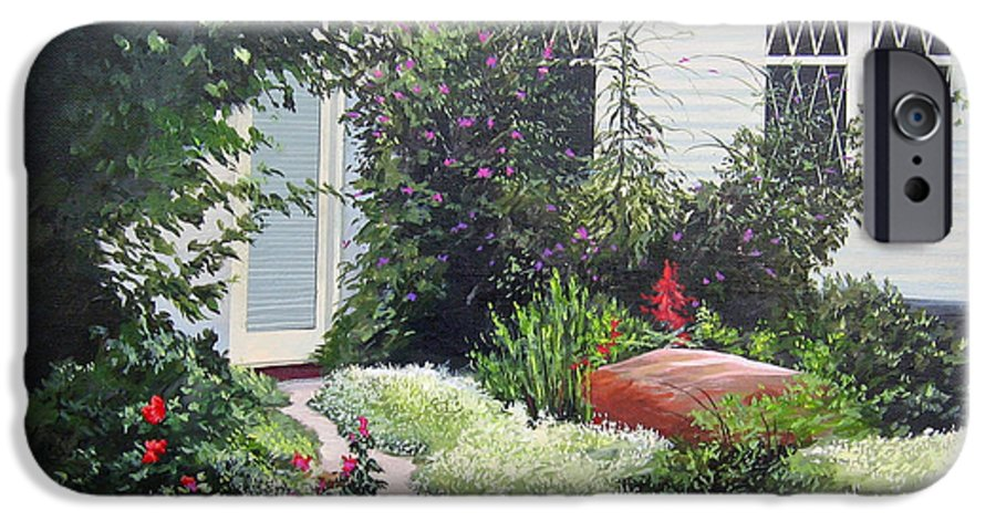Garden Path IPhone 6 Case featuring the painting The Hidden Garden by Hunter Jay