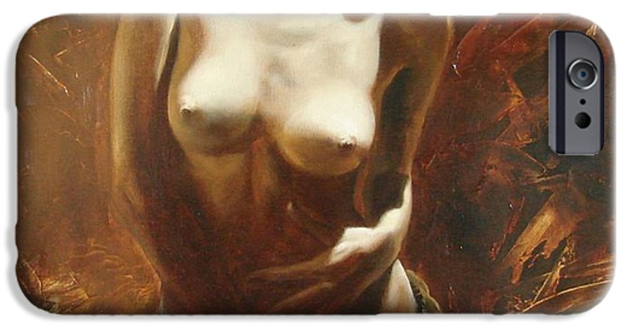 Oil IPhone 6 Case featuring the painting The Incinerating Passion by Sergey Ignatenko