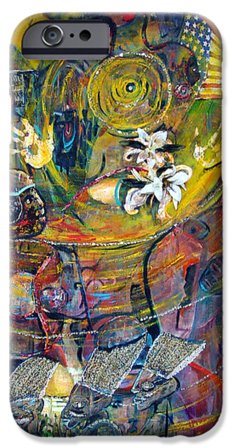 Figures IPhone 6 Case featuring the painting The Journey by Peggy Blood