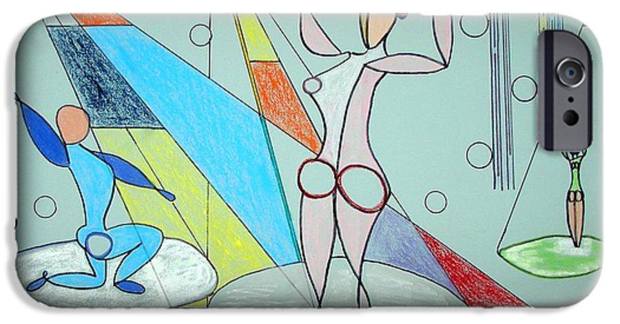 Juggling IPhone 6 Case featuring the drawing The Jugglers by J R Seymour