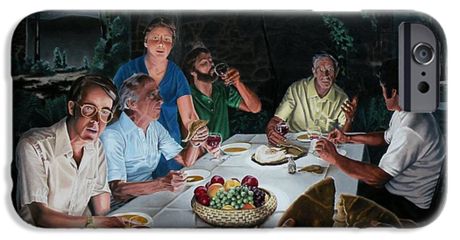Last Supper IPhone 6 Case featuring the painting The Last Supper by Dave Martsolf